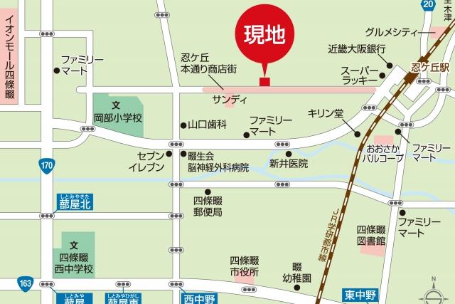 忍ケ丘地図