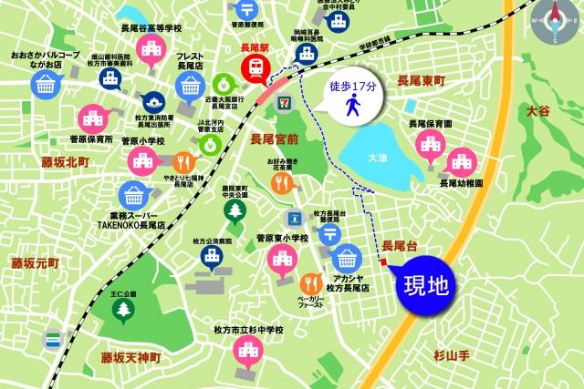 長尾台地図