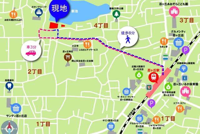 岡山現地案内地図